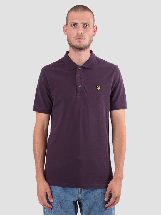 Lyle and Scott Polo Shirt Deep Plum SP400VB