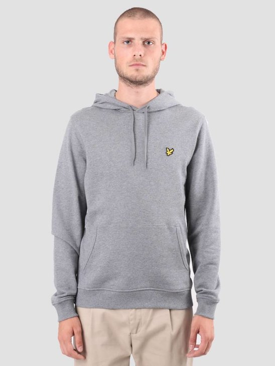 Lyle and Scott Pullover Hoodie Mid Grey Marl ML416VTR