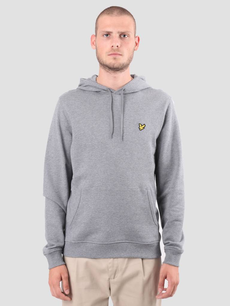 Lyle and Scott Lyle and Scott Pullover Hoodie Mid Grey Marl ML416VTR