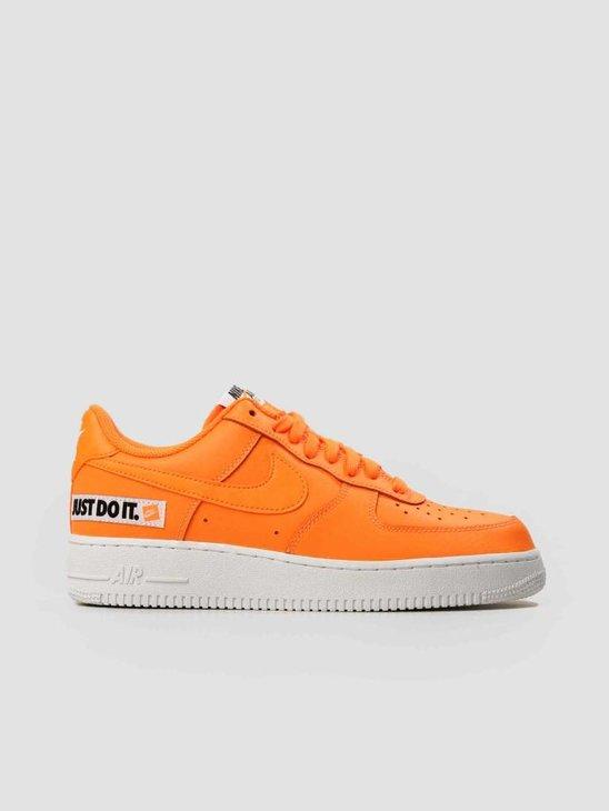 Nike Air Force 1 07 LV8 JDI Leather Total Orange Total Orange-White-Black BQ5360-800