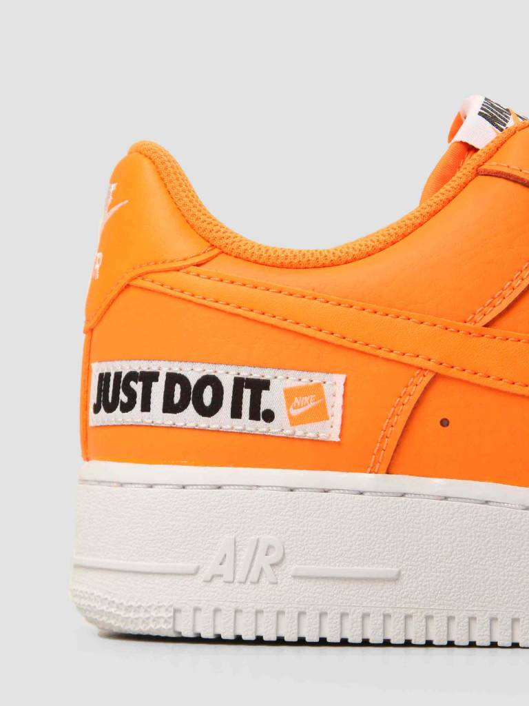 4252cd5debbb Nike Nike Air Force 1 07 LV8 JDI Leather Total Orange Total Orange-White-
