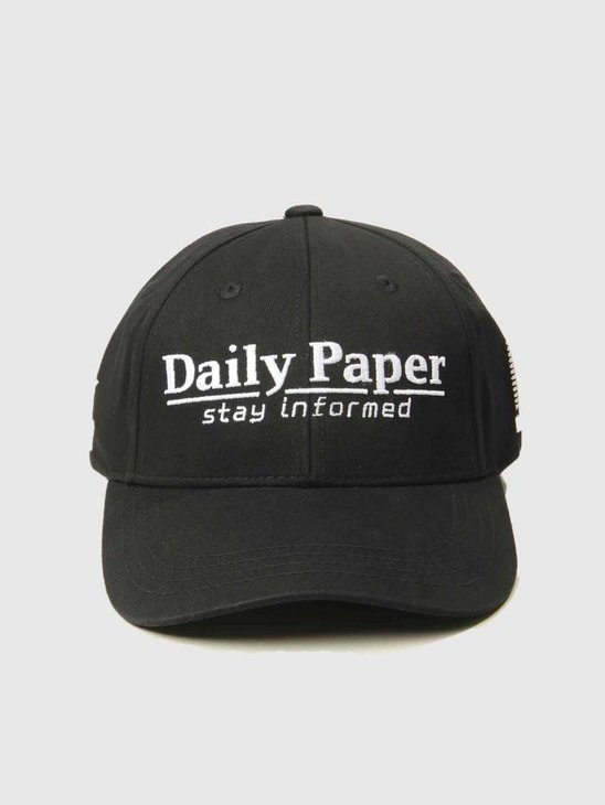 Daily Paper Cycle Cap Black 18F1AC15