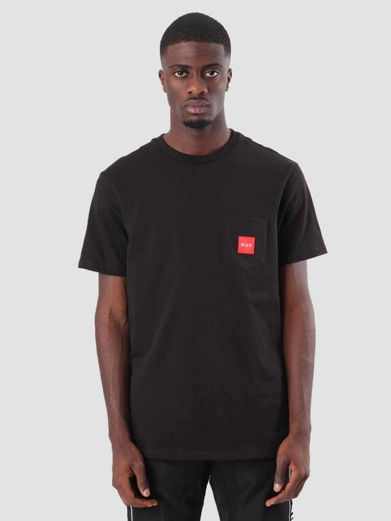 HUF Woven Label Pocket T-Shirt Black TS00381