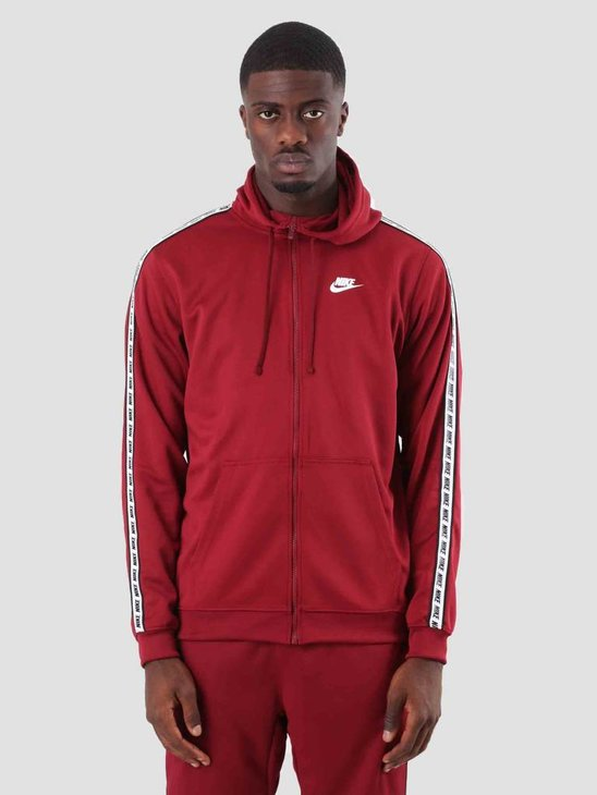 Nike Repeat Fz Hood Poly Team Red White AR4911-677