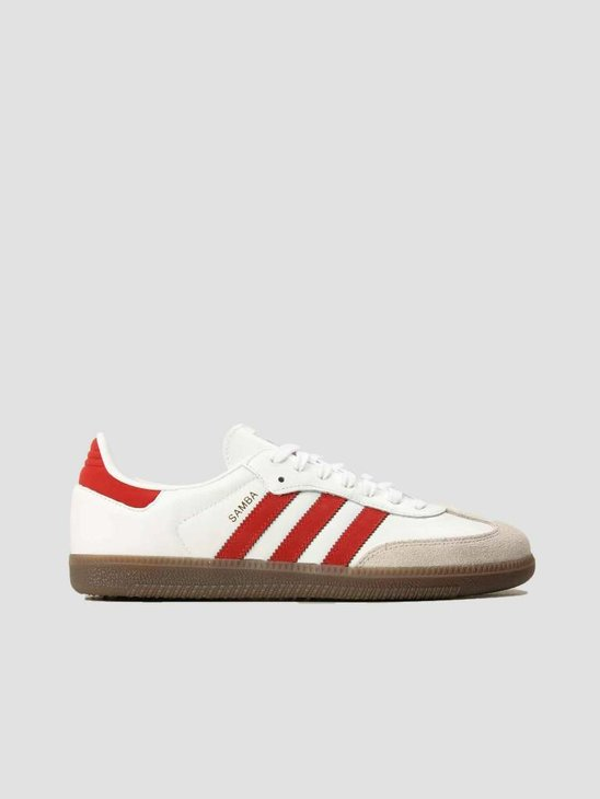 adidas Samba Og Footwear White Scarle Crywht B44628