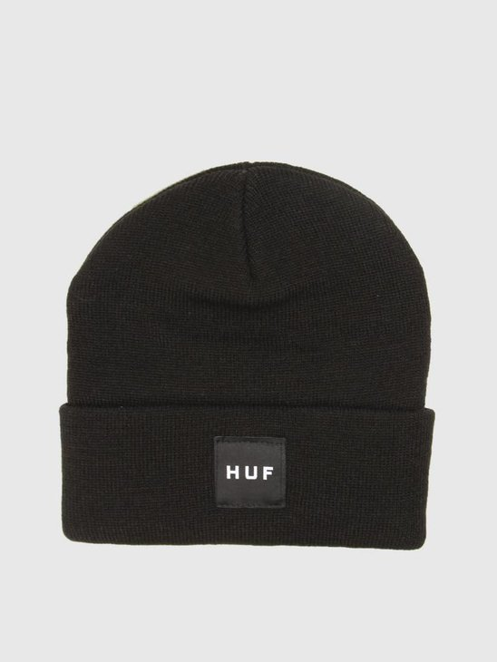 HUF Box Logo Beanie Black BN00047