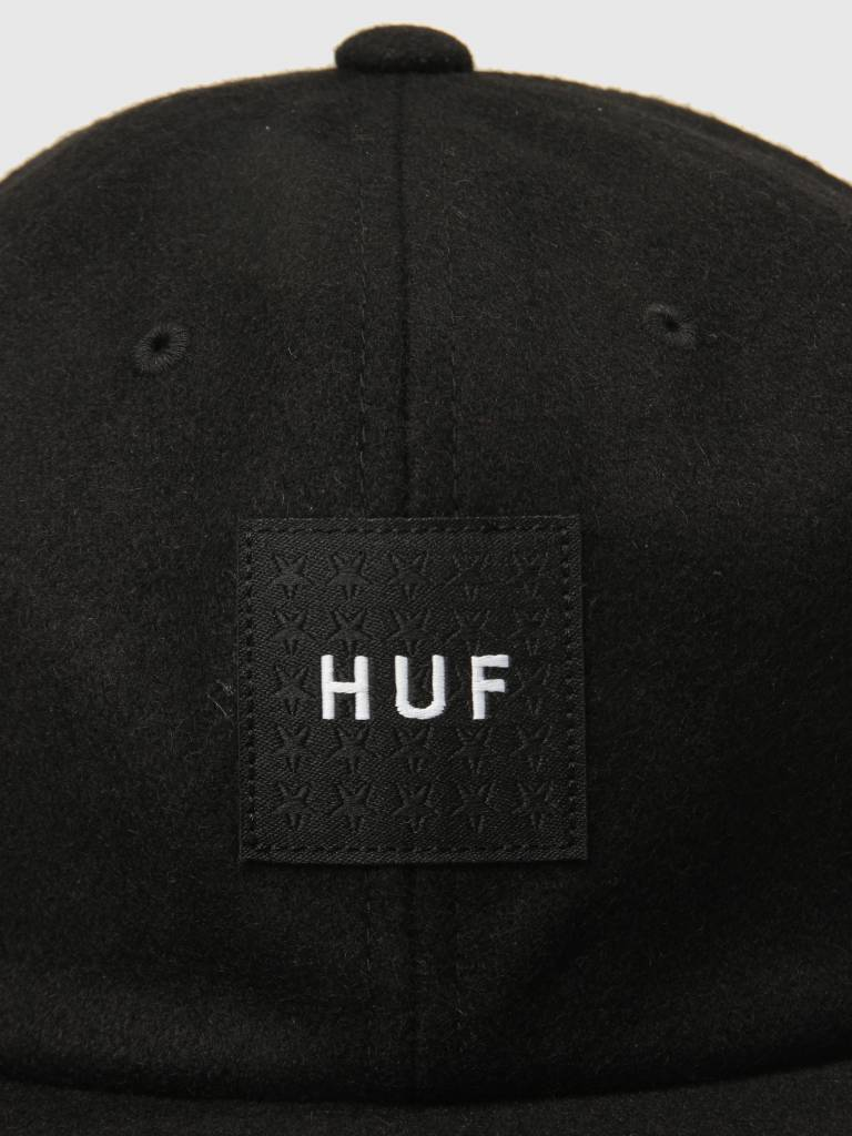 HUF HUF Wool Box Logo 6 Panel Hat Black HT00258
