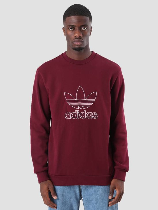 adidas Outline Crew Maroon DH5764