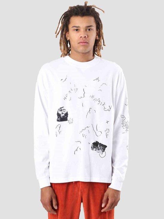 Heresy Scrawl T-Shirt White HAW18-T04W