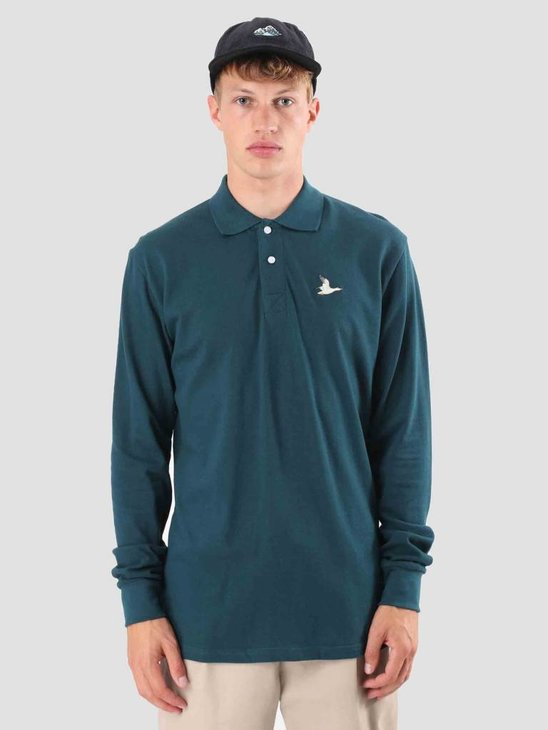 Wemoto Lennard Longsleeve Polo Shirt Atlantic Green 121.206-601