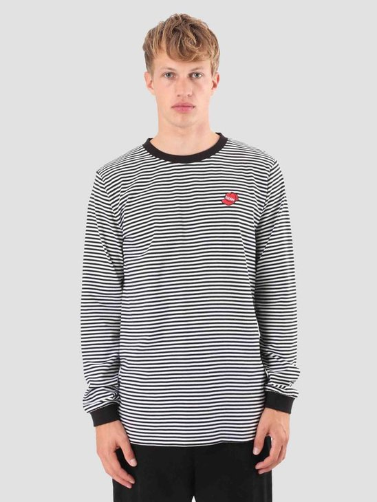 Wemoto Escape Stripe Longsleeve Black-White 121.221-117
