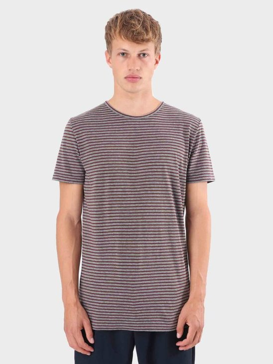 RVLT Striped T-Shirt Grey 1005