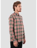 Libertine Libertine Libertine Libertine Hunter Dress Shirt Red Olive 1563