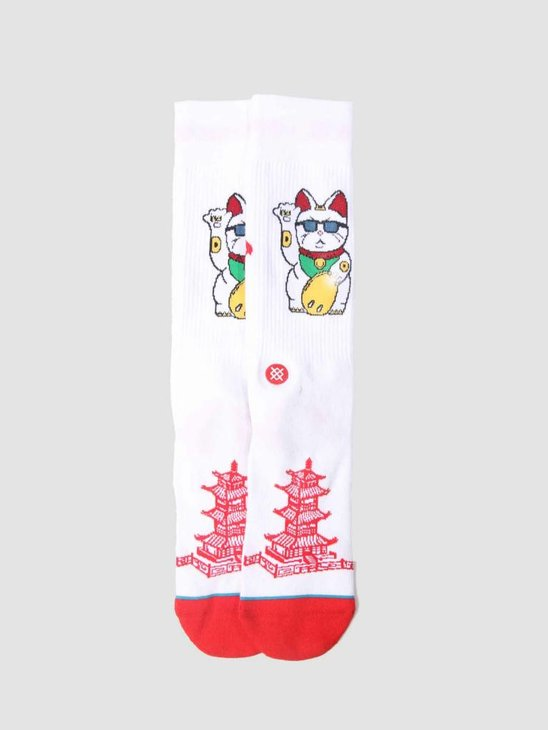 Stance Thank You Enjoy Sock White M546C18Tye