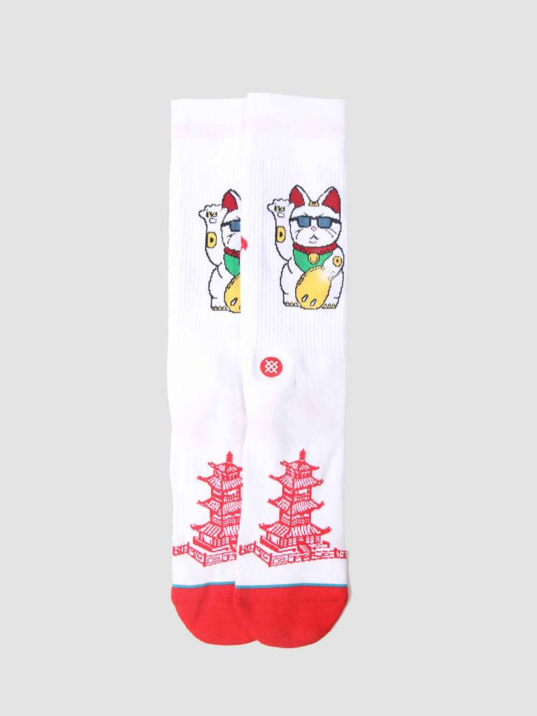 Stance Stance Thank You Enjoy Sock White M546C18Tye