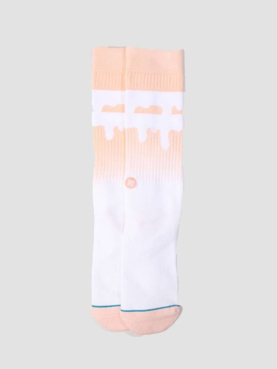 Stance Melt Down Sock Peach M556C18Med