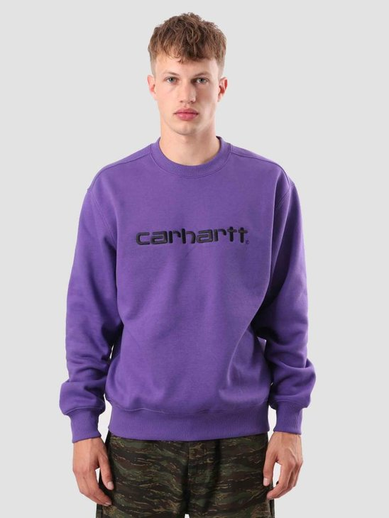 Carhartt Carhartt Sweat Frosted Viola Black I025478-D490