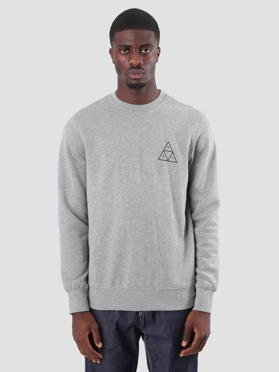 HUF Essentials TT Crew Heather Grey PF00101