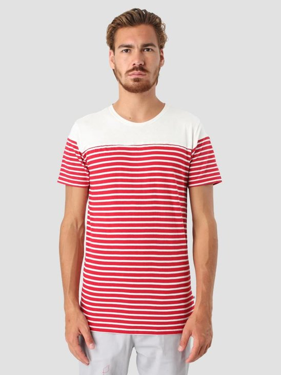 Kronstadt Multi Stripe T-shirt white Red 1160