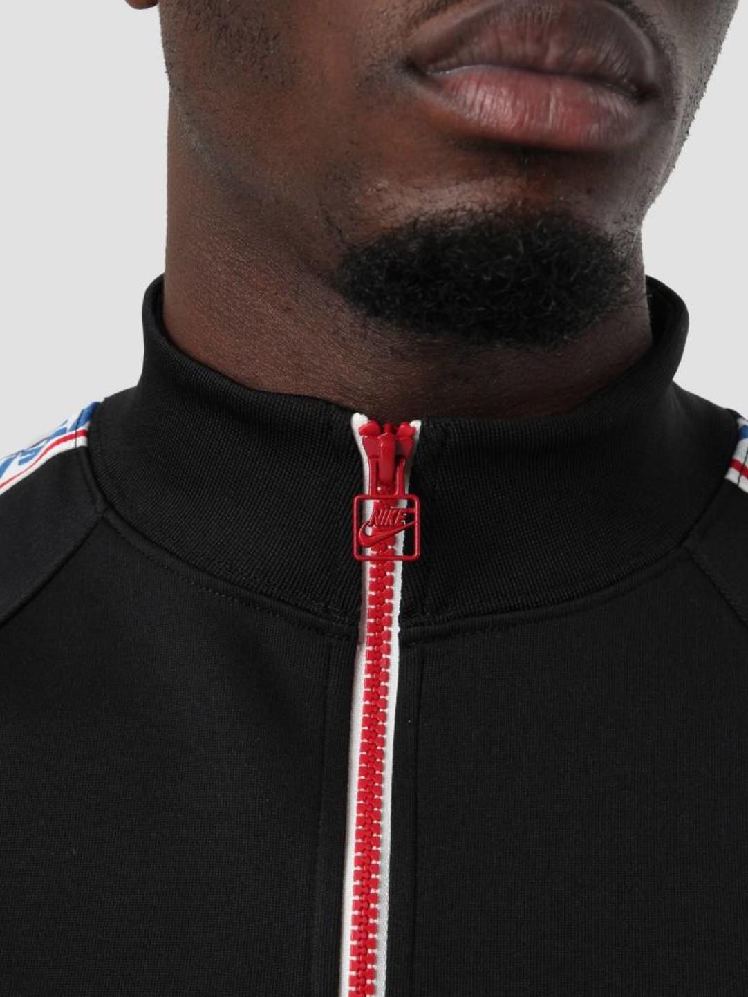 Nike Nike NSW Taped Track Jacket Poly Black Gym Red Sail AJ2681-010