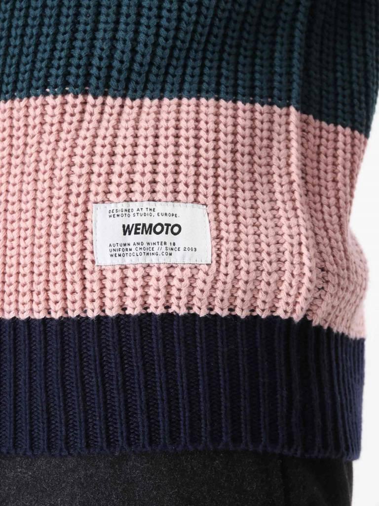 Wemoto Wemoto Colten Stripe Knitwear Atlantic Green 121.507-601