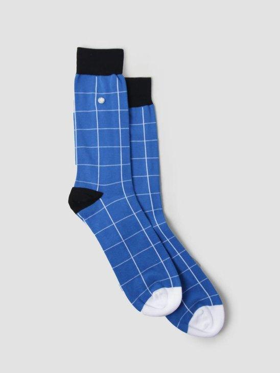 Alfredo Gonzales Blocks Socks Blue Navy White AG-Sk-BL-01