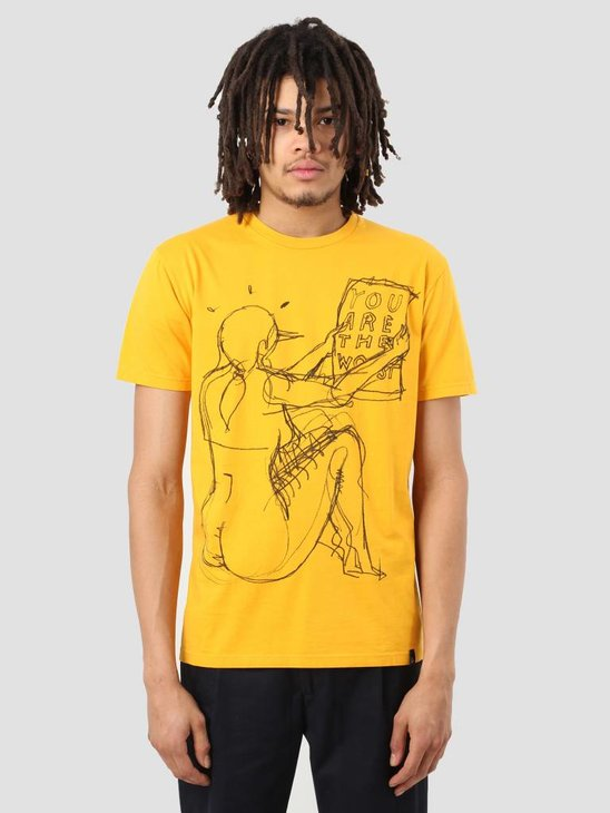 By Parra The Worst T-Shirt Stonewashed Gold 40630