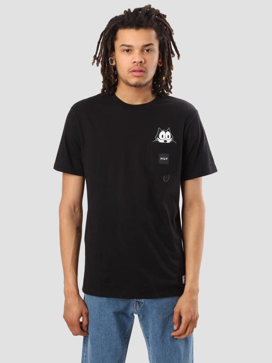 HUF Felix Watching Pocket Short Sleeve Tee Black