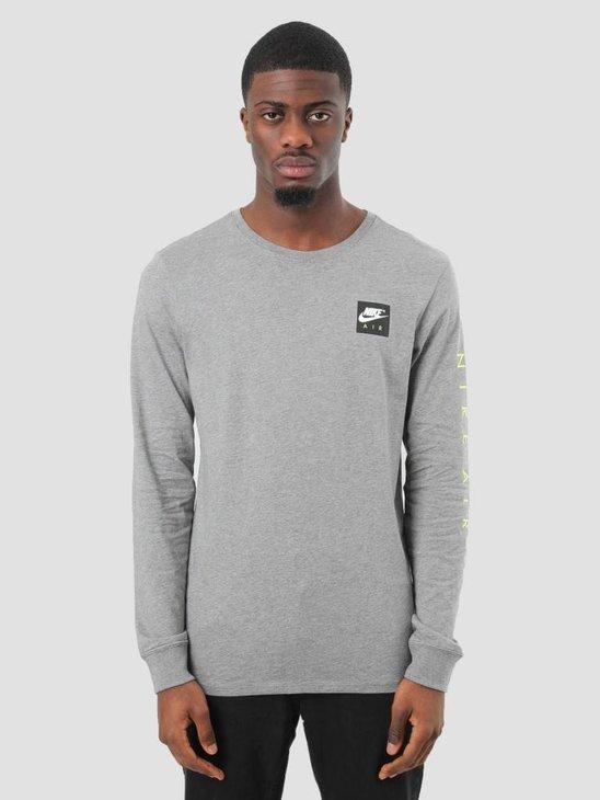 Nike NSW T-Shirt Carbon Heather White 893392-091