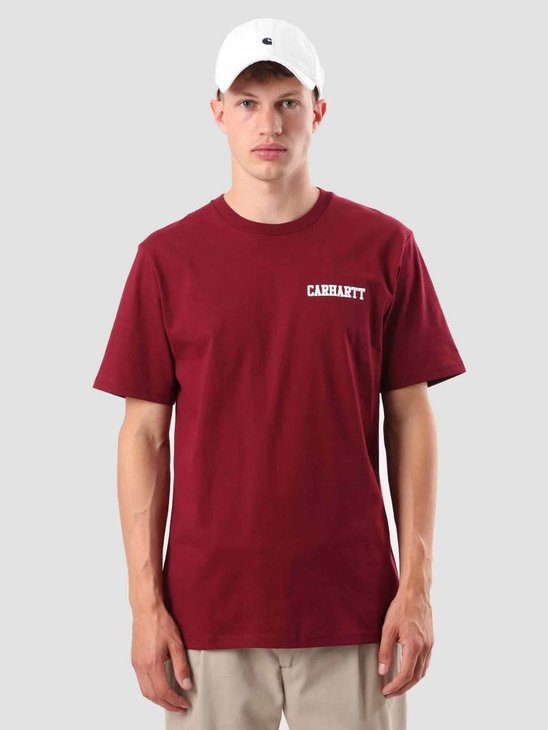 Carhartt College Script T-Shirt Mulberry White I024806-88490