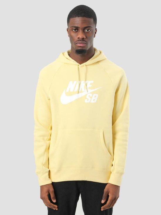 Nike SB Icon Hoodie Lemon Wash White 846886-721