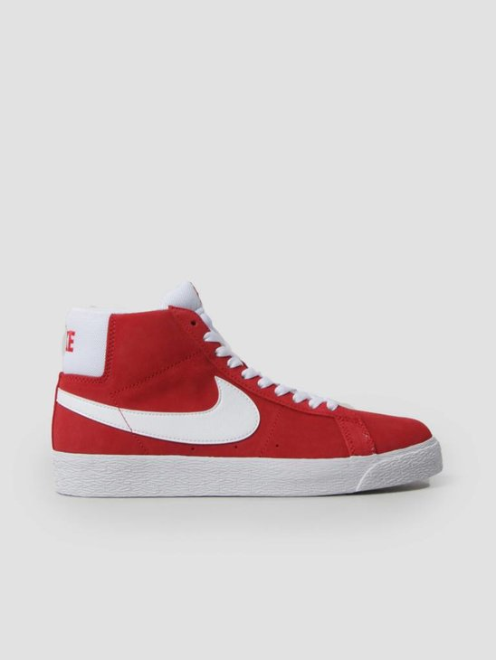 Nike SB Zoom Blazer Mid Skateboarding University Red White 864349-611