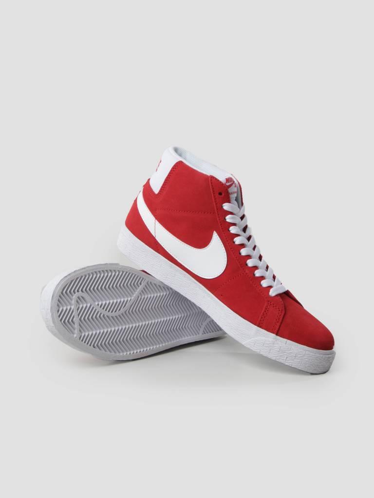 Nike Nike SB Zoom Blazer Mid Skateboarding University Red White 864349-611