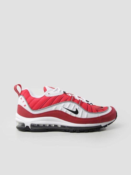 Nike W Air Max 98 White Black Gym Red Reflect Silver AH6799-101