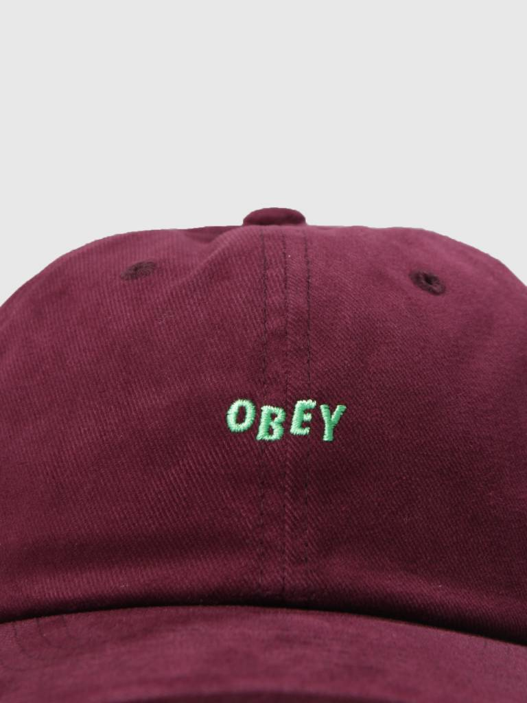 Obey Obey Cutty 6 Panel Snapback Eggplant 100580074 Egg