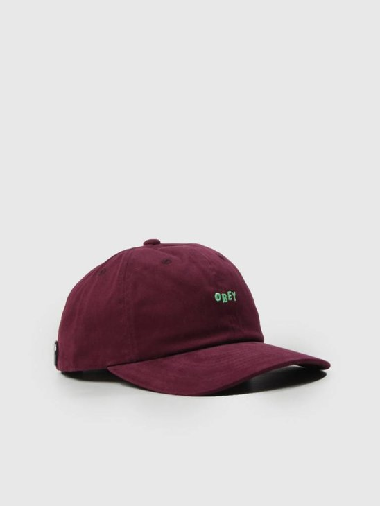 Obey Cutty 6 Panel Snapback Eggplant 100580074 Egg