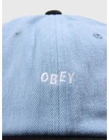 Obey Obey Wardlow 6 Panel Snapback Black 100580128