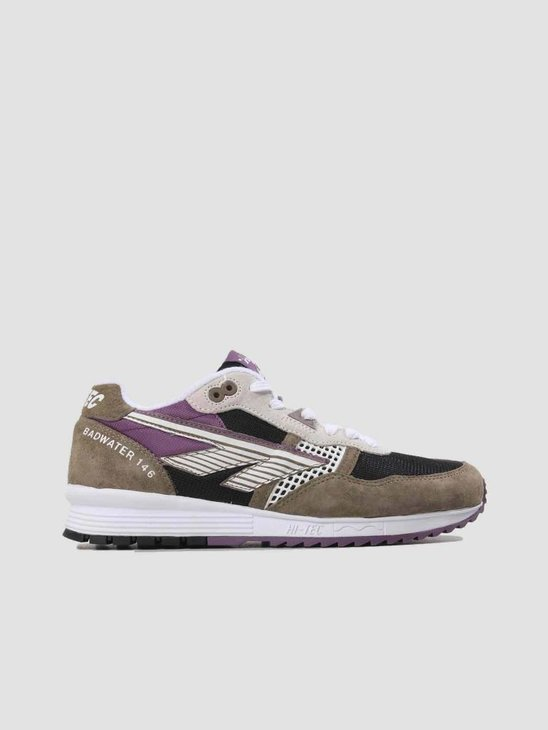 Hi-Tec HTS Badwater 146 ABC Suede Tan Black Purple 6780-041