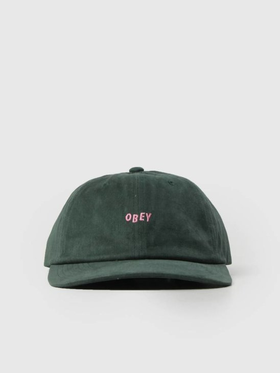 Obey Cutty 6 Panel Snapback Forest 100580074 For