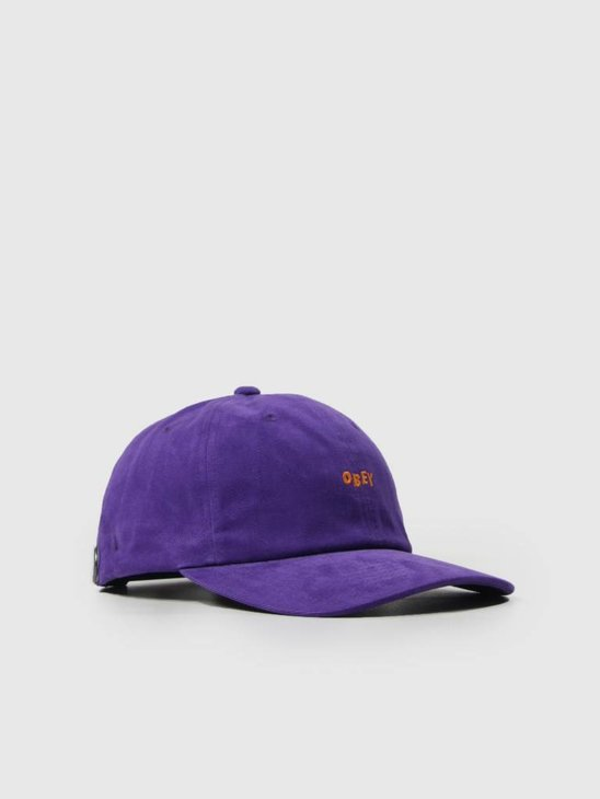 Obey Cutty 6 Panel Snapback Purple 100580074 Pur