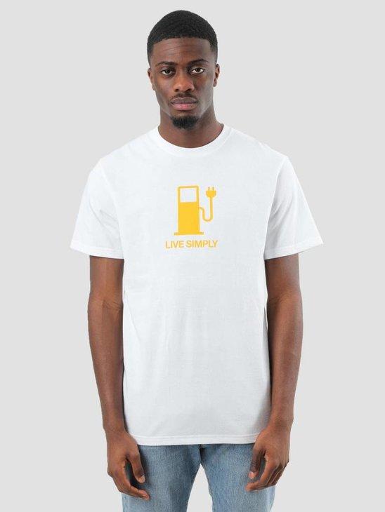 Patagonia Live Simply Power Responsibili T-Shirt White 39171