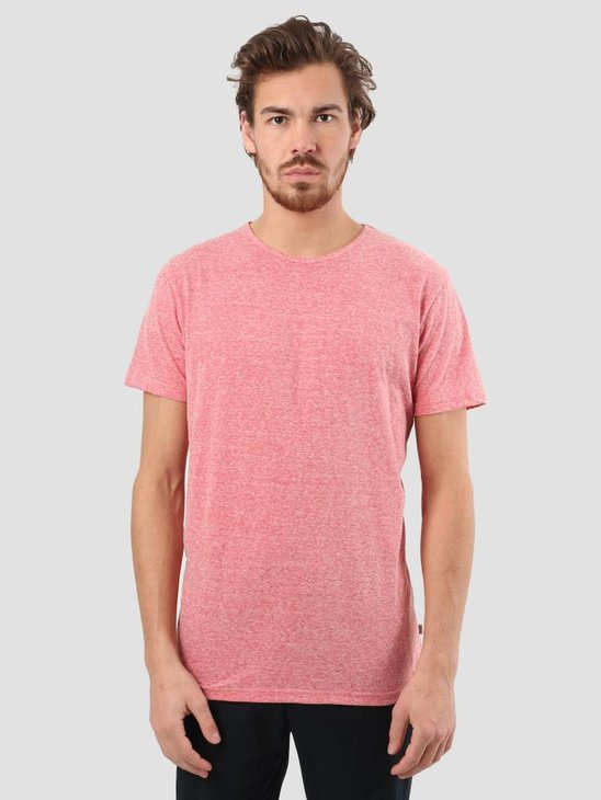 RVLT Round Neck T-Shirt Red Melange 1001