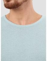 RVLT RVLT Slim Fit Pearl Structure Knit Light Blue 6004