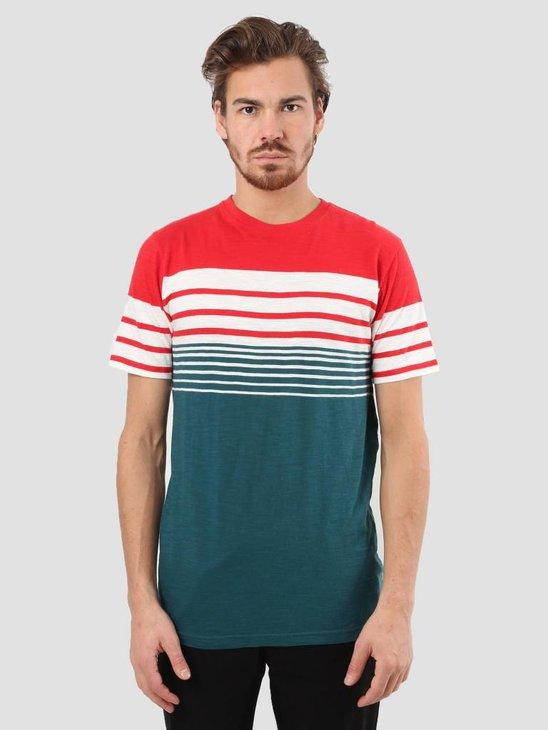 RVLT Slub Stripes T-Shirt Red 1939
