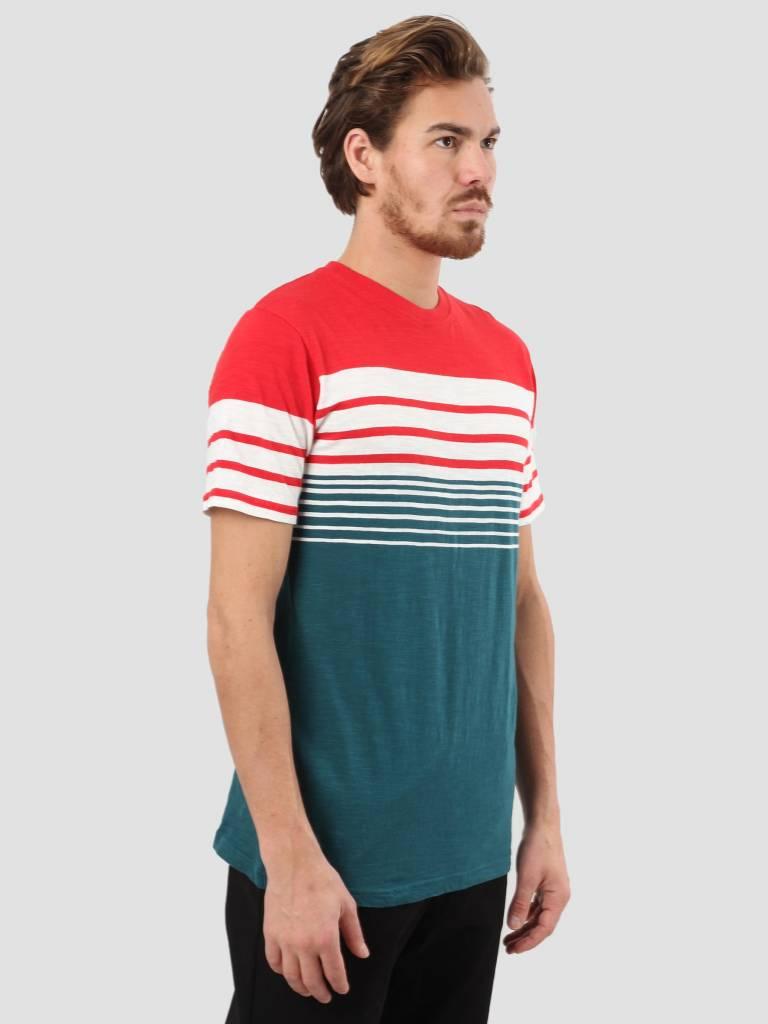 RVLT RVLT Slub Stripes T-Shirt Red 1939