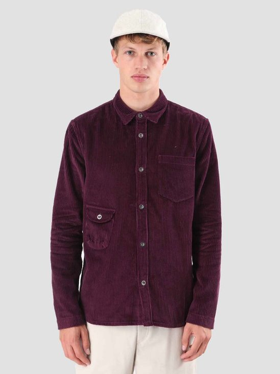 Native North Bayden Corduroy Overshirt Purple NNAW18002P