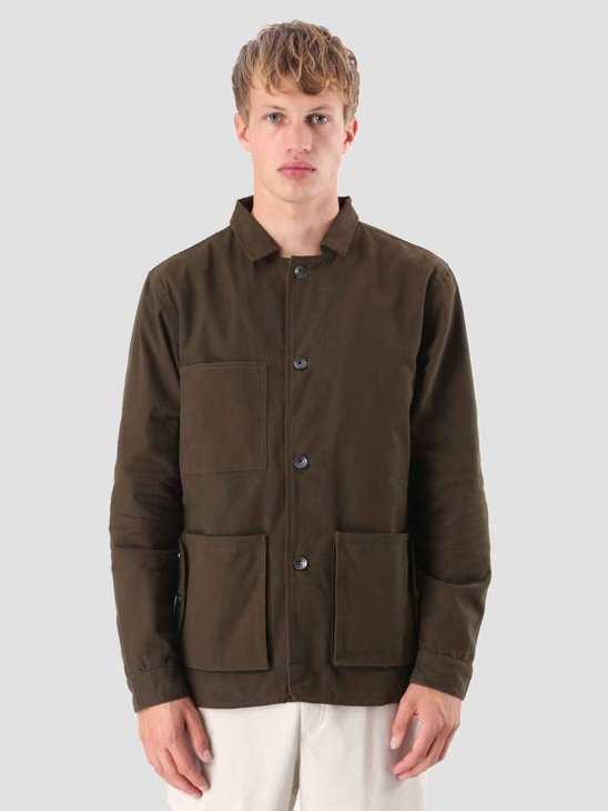 Native North Canvas Jacket Green NNAW18043G