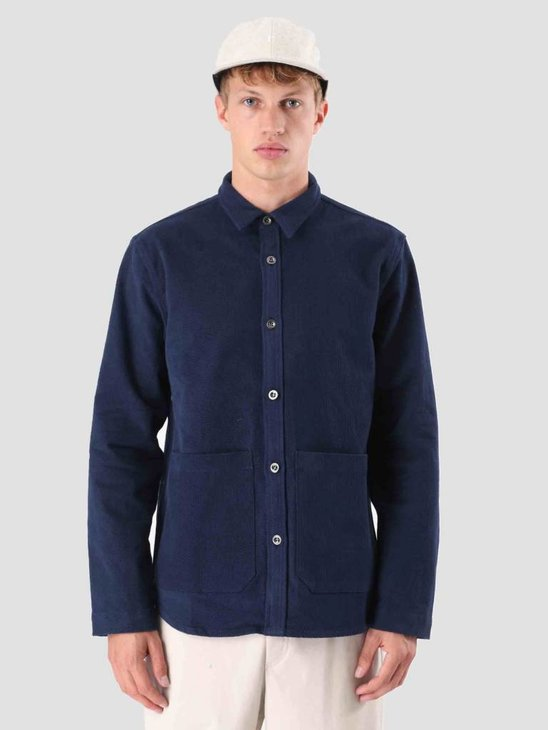 Native North Carpenters Overshirt Blue NNAW18019B