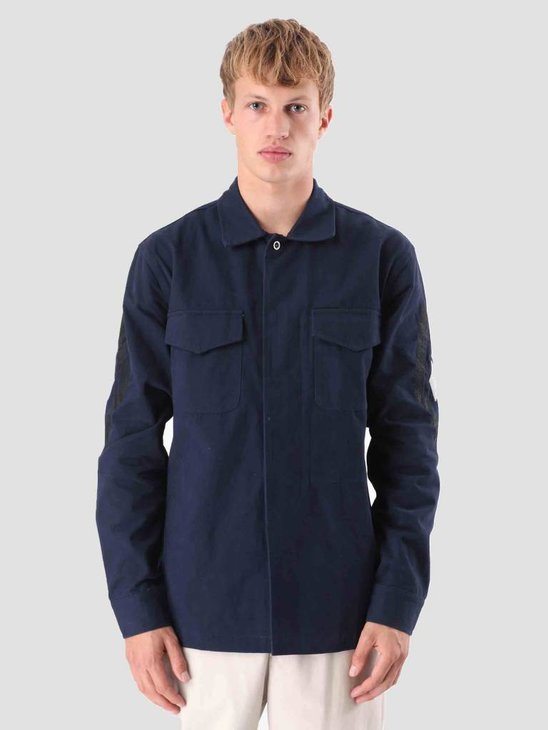 Native North Field Thistle Overshirt Navy NNAW18011N