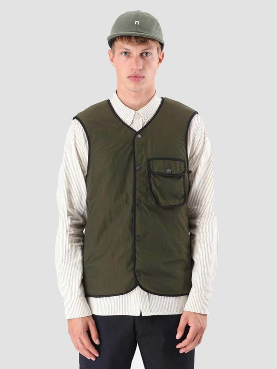 Native North Teddy Pocket Vest Green NNAW18014G